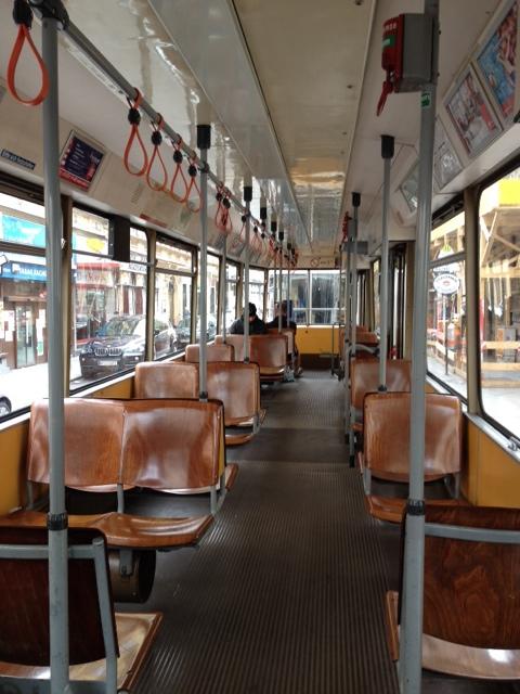 Empty Tram Seats in Vienna